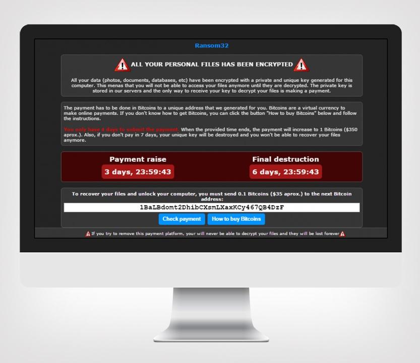Ransom32 con JavaScript: cibo per i criminali informatici